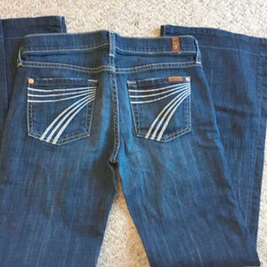 7 FAMK Dojo jeans-hem let out size 26